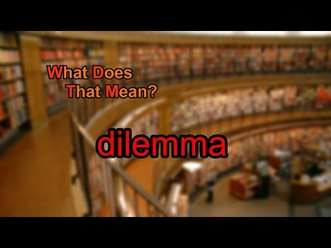What does dilemma mean?