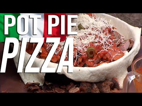 Black Iron Pizza Pot Pie recipe by the BBQ Pit Boys