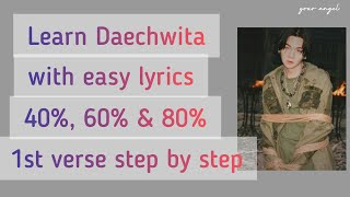 "Learn how to rap AGUST D ""DAECHWITA"" 1st verse with EASY LYRICS (50% SLOWMO TUTORIAL)"