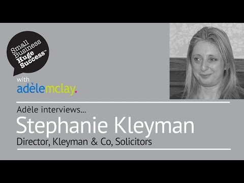 Meet Stephanie Kleyman, Director, Kleyman & Co Solicitors