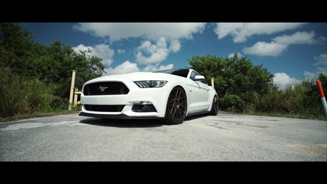 2016 Mustang Gt Oxford White On Velgen Wheels Vmb7 Satin Bronze