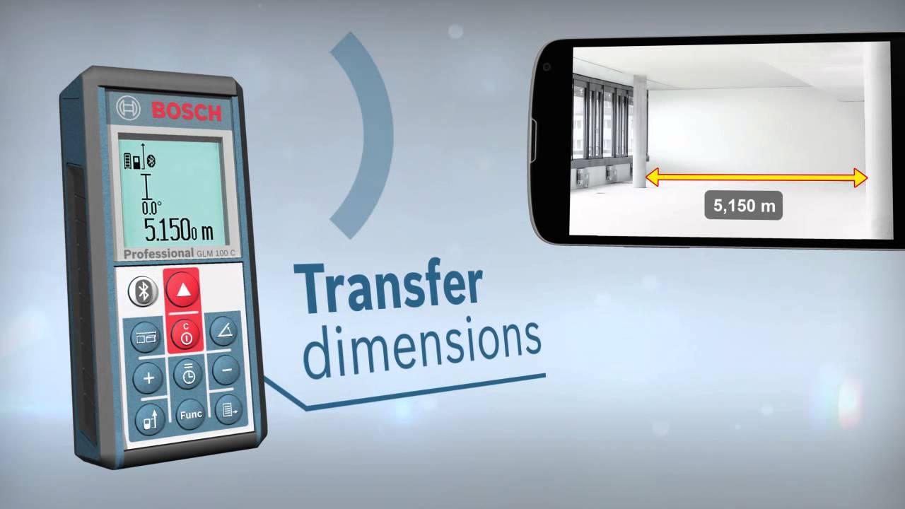 Bosch Entfernungsmesser Glm 100 C : Bosch professional laser entfernungsmesser glm c micro usb