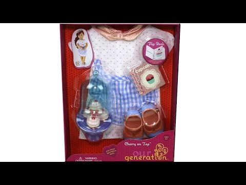 Our Generation Cherry On Top Outfit Set 18 Inch Doll Playset Unboxing Review