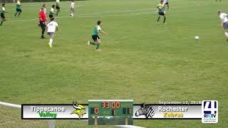 SC   Tippecanoe Valley Soccer vs Rochester   09 12 18final