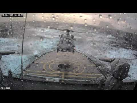 Danish Defence MH-60R Seahawk bad weather landing