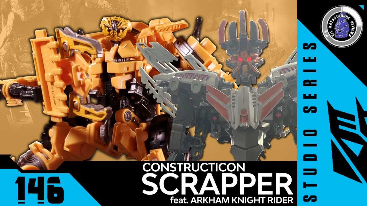 Transformers: Studio Series SCRAPPER Review feat. ARKHAM KNIGHT RIDER By Kit Katastrophe