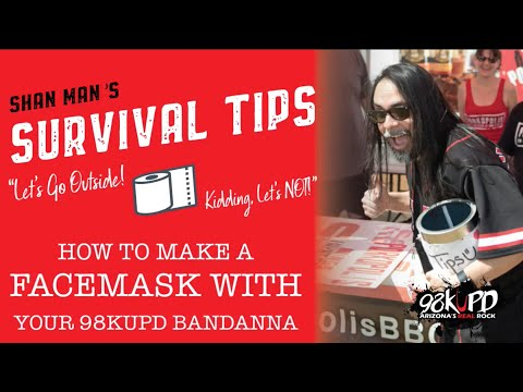 How To Make A Facemask With Your 98KUPD Bandanas