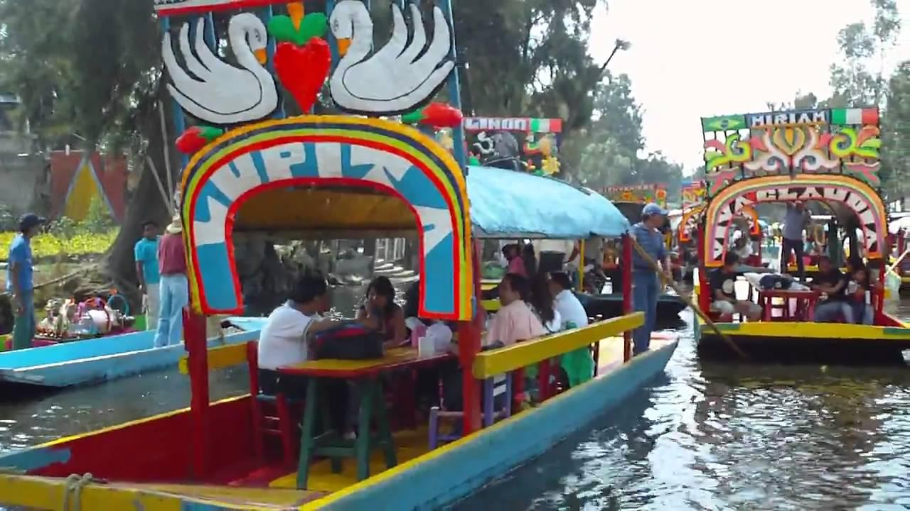 Trajineras In Xochimilco Mexico Youtube