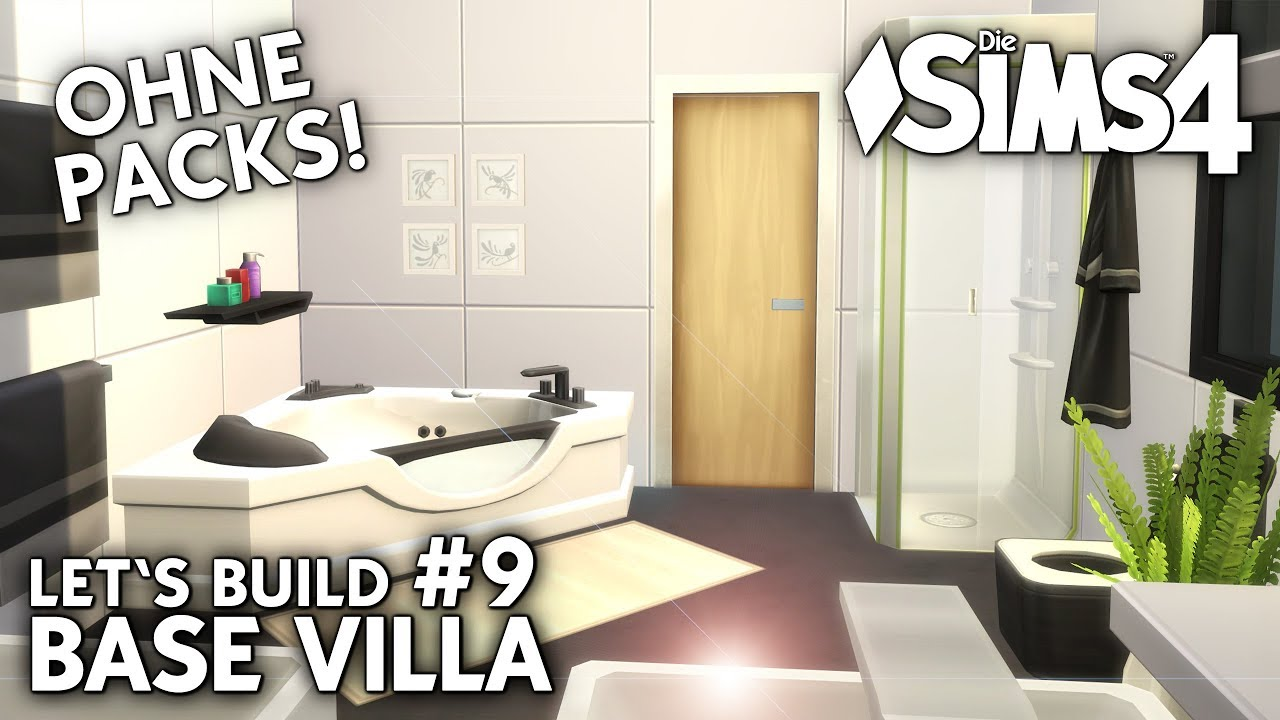 Die Sims 4 Haus bauen ohne Packs | Base Villa #9: Bad & Community ...