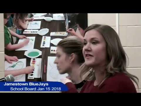 Jamestown Public Schools Board Meeting Jan 15 2018