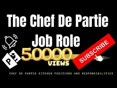 The Chef De Partie Job Role. Chef De Partie Kitchen Positions And Responsibilities