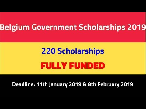 Belgium Scholarship 2019-2020 For Masters For Developing Countries - Pakistan and India