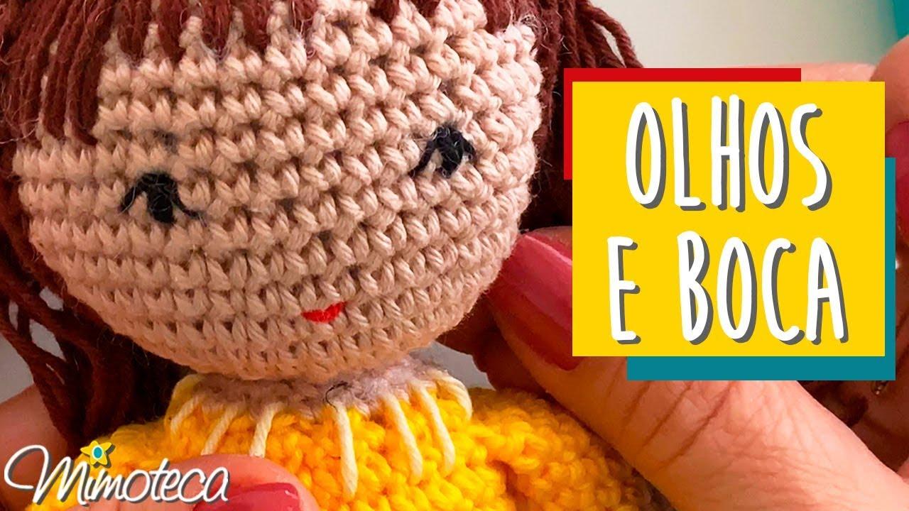 Como fazer cabelos de bonecas de crochê in 2020 | Puppe häkeln ... | 720x1280