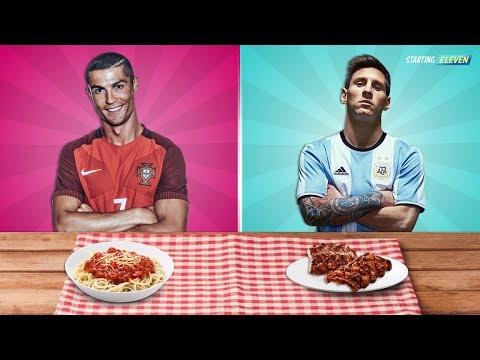 Jadi Ini Makanan Favorit Bintang Sepak Bola ● Ronaldo ● Messi ● Neymar ● Starting Eleven