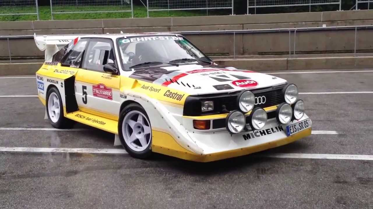 Audi Sport quattro S1 Walter Röhrl Roll Out - YouTube