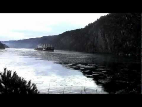 "Timelapse of bulk carrier ""Desert Melody"" leaving Eramet (Tinfos) in Kvinesdal, Norway"