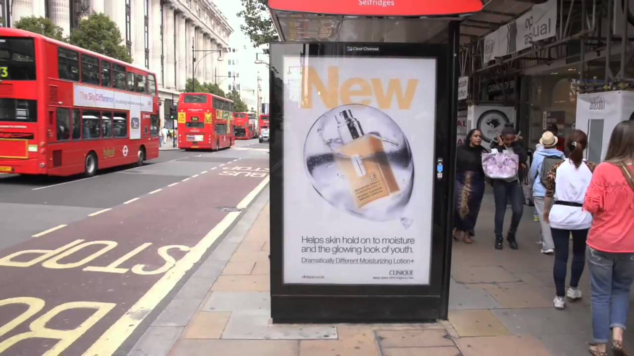 Clinique Outdoor Advertising London Uk Youtube