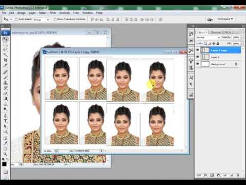 Create Passport Size Photo in Adobe Photoshop CS3 (In Studio)
