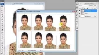 إنشاء جواز سفر حجم الصور في أدوبي فوتوشوب CS3 (في الأستوديو)