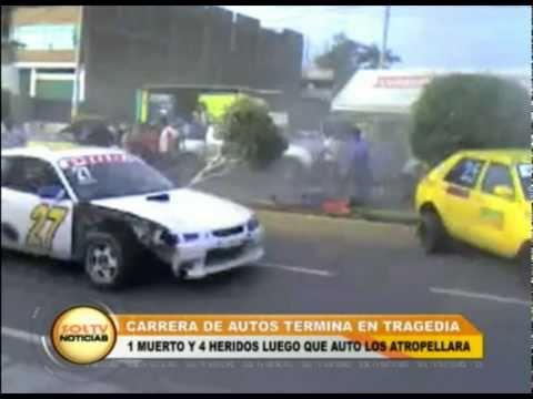 Carrera de autos termina en tragedia