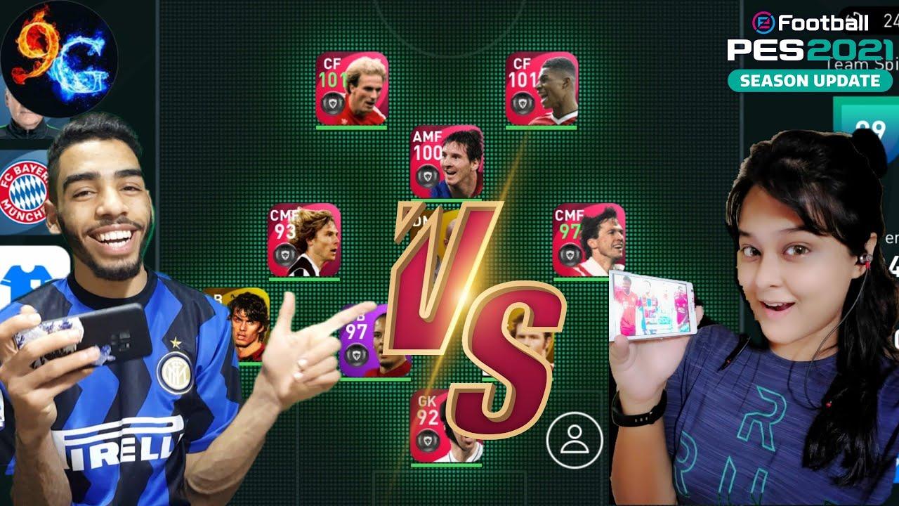 9AL Games VS Pes Girl HD  🔥 pes 2021 mobile 1st leg