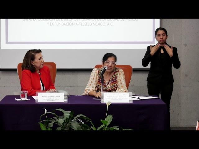 Discurso de Presidenta de la CDHCM Nashieli Ramírez Hernández en la Firma con Appleseed México