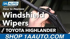 How to Replace Wiper Blades 00-07 Toyota Highlander