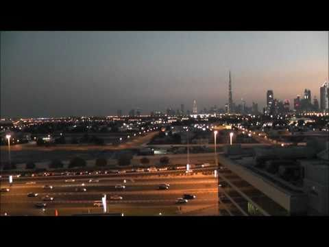 Dubai Panorama - Bur Dubai - Evening [1080p]