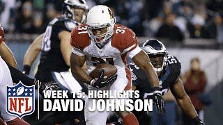 David Johnson Highlights from Career-High 187-Yard Game | Cardinals vs. Eagles | NFL