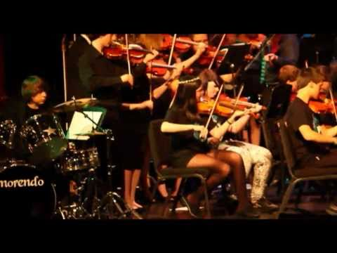 """Hedrick and North Medford Orchestra performs """"CLOC..."""