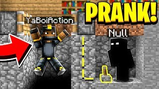 PRANKING AS NULL IN MINECRAFT! (He *FREAKED* When He Saw Null)