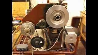 3/4hp sewing machine motor mounted on a 9x20 lathe