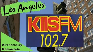 KIIS 102.7  Los Angeles ' Kiss FM '  Benny Martinez  June 25th 1987