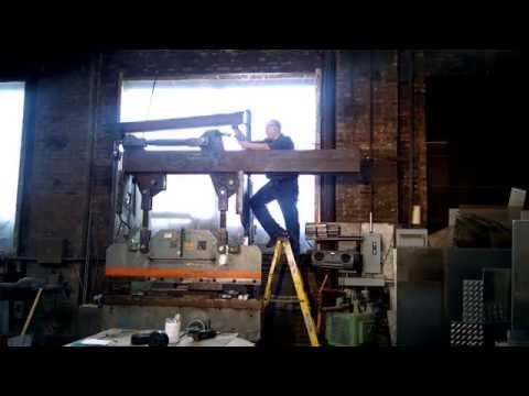 Homemade Hydraulic press brake part 1