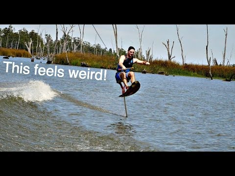 Hydro Chair Water Ski Cover Hire And Setup Learning To Airchair Hydrofoil Youtube