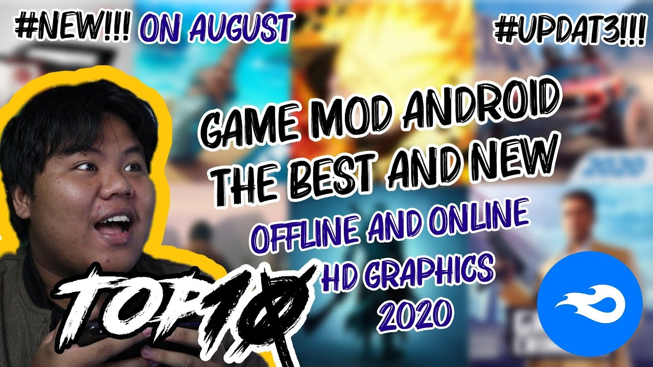 TOP 10 game mod android  offline THE BEST on exciting HD graphics  August 2020 #TIGA | LINK MD