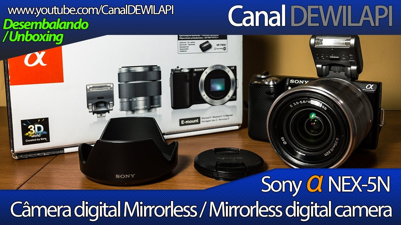 sony alpha nex 5n c mera digital mirrorless desembalagem e rh youtube com