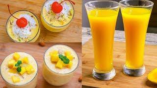 3 Easy Mango Recipe   Mango Mastani   Mango Frooti   Mango Kheer   Mango Dessert Recipe   Yummy