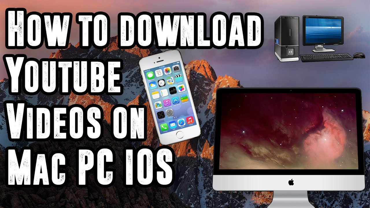 How To Download Youtube Videos On Your Pc, Mac, Or Ios Device (noputer!  No Jailbreak!) (free)