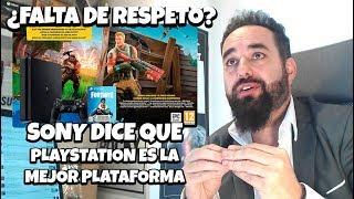 El CEO de SONY Dice que PS4 es la mejor Plataforma para jugar a FORTNITE ¿Faltando al RESPETO?