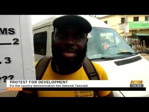 Protest for Development: Fix the country demonstration hits Sekondi Takoradi - Adom TV (21-9-21)