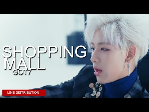 GOT7 - Shopping Mall | Line Distribution (Color Coded)