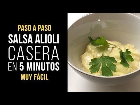 Salsa Alioli Casera en 5 Minutos