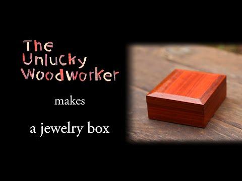 Building a Padauk and Redheart Jewelry Box