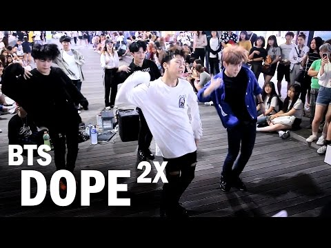 "BTS ""DOPE(쩔어)"" 2X Speed Amazing Dance Cover by ATK in Shinchon"