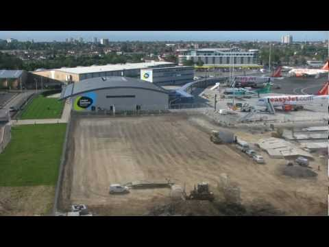 Timelapse video of London Southend Airport's new passenger terminal