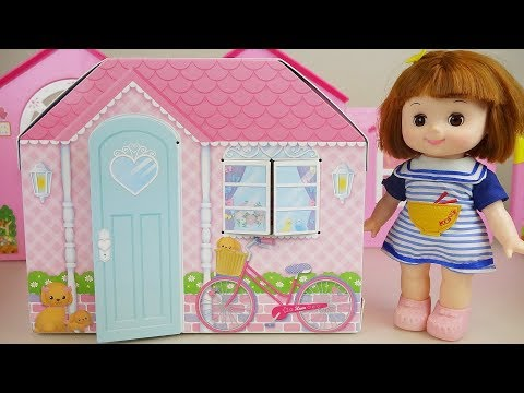 Ba doll paper house and toys ba Doli play