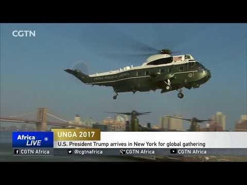 U.S. President Trump arrives in New York for UNGA