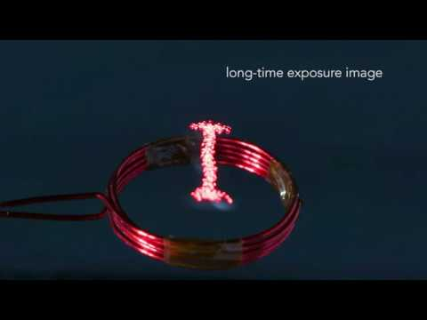 Luciola : A Millimeter-Scale Light-Emitting Particle Moving in Mid-Air