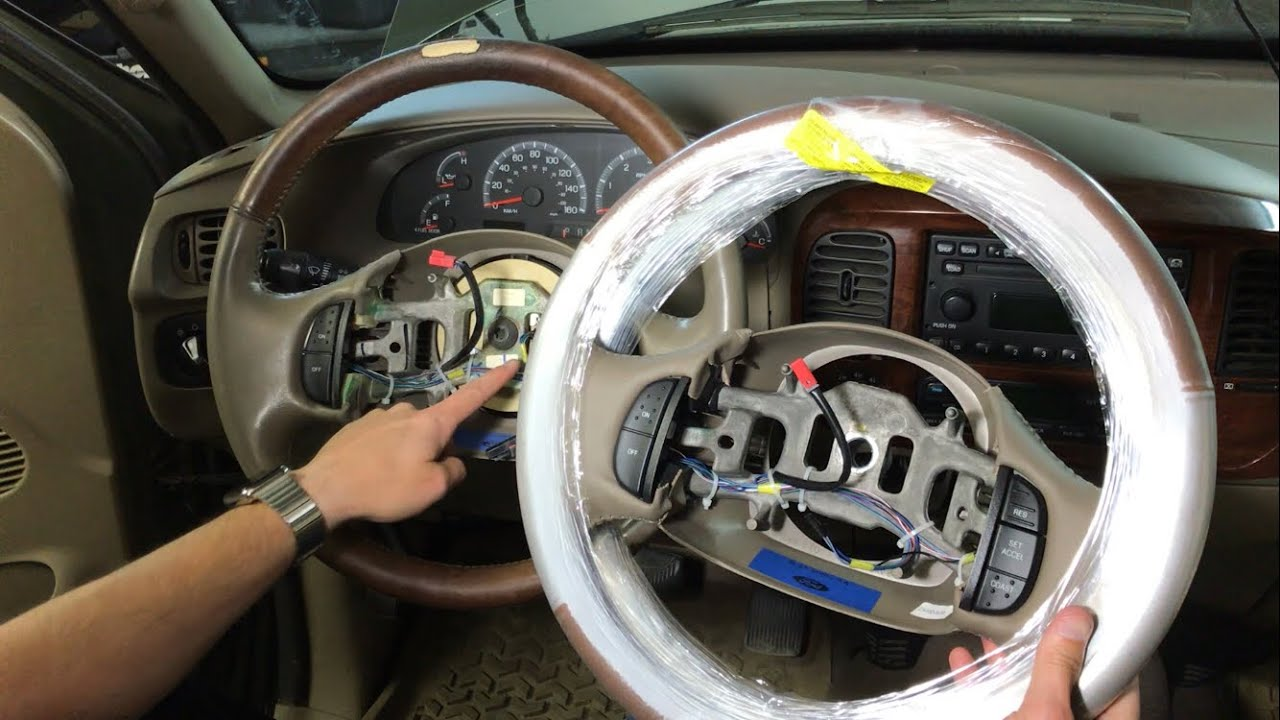 hight resolution of ford f150 steering wheel removal 97 03